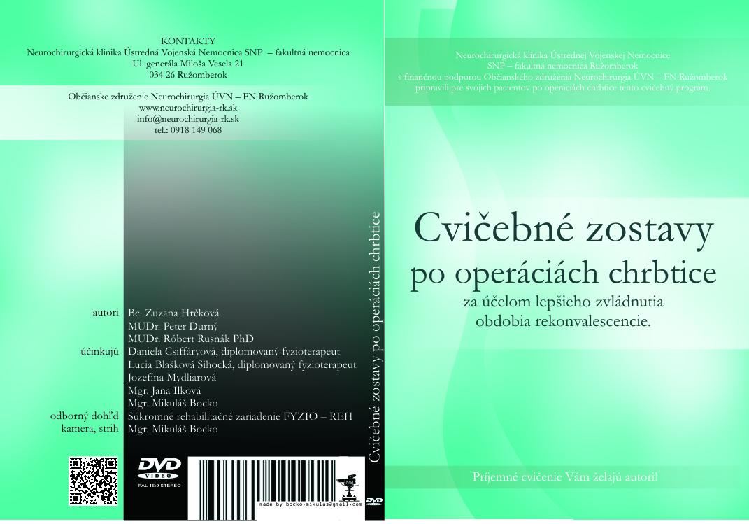 DVD - Cvičebné zostavy po operáciách chrbtice